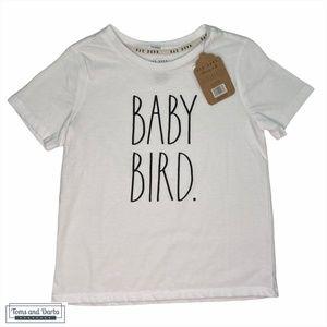 Rae Dunn Children BABY BIRD T-Shirt in White